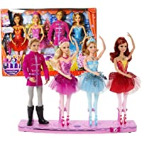 "Mattel Year 2013 ""Barbie In The Pink Shoes"" DVD Series 4 Pack 12 Inch Doll Set With Kristyn Farraday"