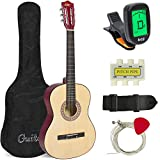 Best Choice Products 38in Beginner Acoustic Guitar Bundle Kit w/Case, Strap, Tuner, Pick, Pitch Pipe, Strings - Natural