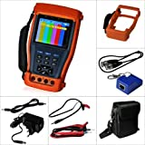 """Evertech Cctv Multi-function Tester PRO M - Built-in Digital Multimeter - 3.5"""" LCD Monitor Cctv Tester Video / PTZ Tester / Security Camera / Cable Tester /Cctv Monitor Test Tester + Multimeter 11 in One Function"""
