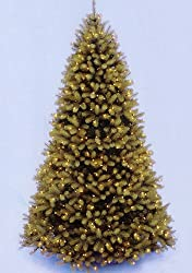 12' Downswept Douglas Fir Pre-Lit PE Artificial Christmas Tree - Clear Lights