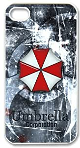 Cool Custom Case for Apple Iphone 4/4s Resident Evil Umbrella Corporation Iphone 4/4s Cases Cover