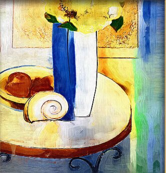Xm Art-The Above Table For Breakfast 100% Hand-Painted Passion Color High Q. Home Decoration Modern Abstract Best-Selling Oil Painting On Canvas (Unstretch No Frame) front-980668