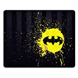 Pattern Yellow Bat Mouse Pads Customized Made to Order Support Ready 9 7/8 Inch (250mm) X 7 7/8 Inch (200mm) X 1/16 Inch (2mm) High Quality Eco Friendly Cloth with Neoprene Rubber Liil Mouse Pad Desktop Mousepad Laptop Mousepads Comfortable Computer Mouse Mat Cute Gaming Mouse_pad