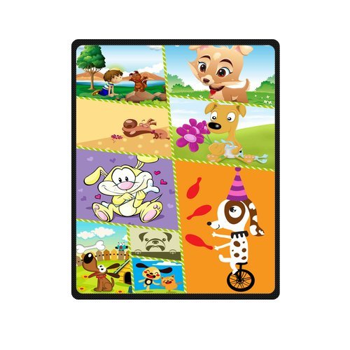 "Personalized Cute Dogs Jigsaw Blanket 40""X 50""(Small) front-984404"