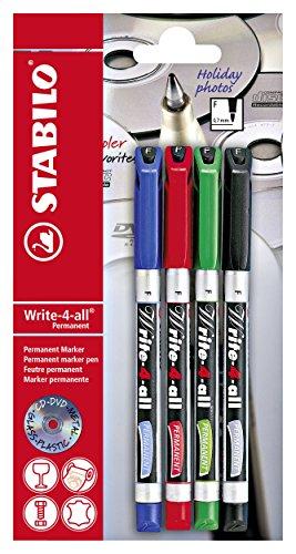 stabilo-write-4-all-b-17555-10-marqueur-permanent-rouge-bleu-vert-noir-4-pieces