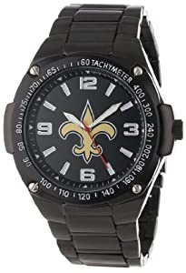 Game Time Unisex NFL-WAR-NO Warrior New Orleans Saints Analog 3-Hand Watch by Game Time