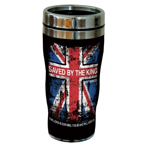 Tree-Free Greetings Sg24237 Saved By The King: Isaiah 33:22 Sip 'N Go Stainless Steel Lined Travel Tumbler, 16-Ounce