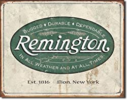 REM - Weathered Logo Metal Tin Sign 16&quot;W x 12.5&quot;H