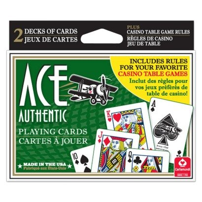 Ace Playing Cards, Double Deck + Casino Game Instructions
