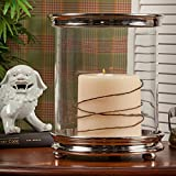 Candle Holder - Chelsea Cylinder Hurricane Candleholder - Nickel Finish Pillar Candle Holder