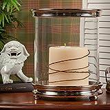 Candle Holder - Chelsea Cylinder Hurricane Candleholder - Nickel Finish Pillar Candle Holder