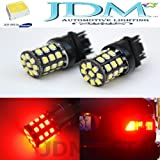 JDM ASTAR 800 Lumens Super Bright AX-2835 Chipsets 3056 3156 3057 3157 LED Bulbs For Brake Light Tail lights Turn Signal Brilliant Red