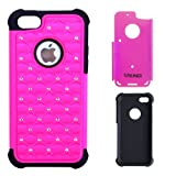 Meaci® Iphone 5 5s(not for 5c) Combo Hybrid Case Glitter/bling Studded Diamond Dual Layer Pc&silicone Protective... by Meaci