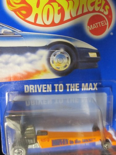 Driven to the Max Dragster	1994 Hot Wheels #245	Orange with Mixed Wheels on Solid Blue Card - 1