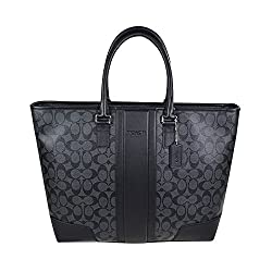 Coach Signature Men's Heritage Utility Weekend Tote 71104 Charcoal Black