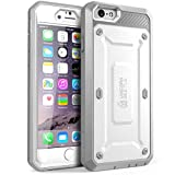 iPhone 6 Plus Case, SUPCASE [Heavy Duty] Belt Clip Holster Apple iPhone 6 Plus Case 5.5 inch [Unicorn Beetle PRO Series] Full-body Rugged Hybrid Protective Cover with Built-in Screen Protector (White/Gray), Dual Layer + Impact Resistant Bumper [Not Fit iPhone 6 4.7 inch]