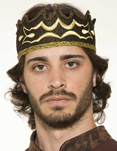 Forum Mens Medieval Renaissance King Black Crown Costume Accessory