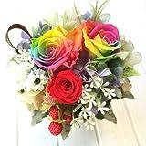 レインボーローズのプリザーブドフラワー 奇跡のバラ 「サミー」 ギフト 記念日 お祝い