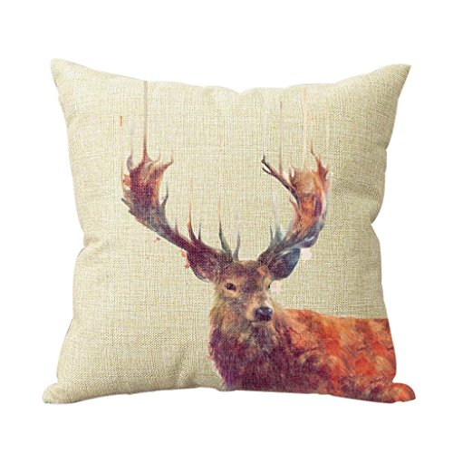 Animal Throw Pillow Covers - Deer Pillow Cover