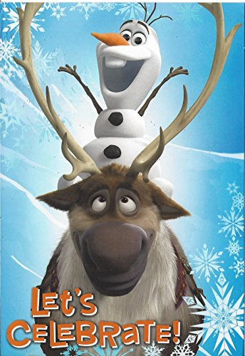 "Frozen ""Let's Celebrate!"" Olaf & Sven Greeting Card - 1"