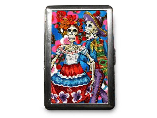 Day of the Dead Decorated ID Cigarette Case Wallet - CD108
