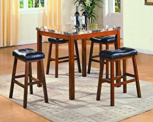 Aaron 5 Piece Dinette Set by Crown Mark