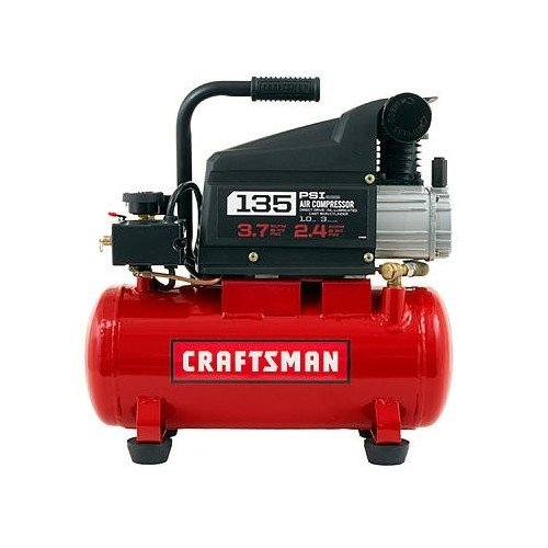 Read About Craftsman 3 Gallon Oil Lube 135psi Portable Air Compressor with 3 Piece Kit.