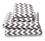 Colorful Gray Chevron King Sheets Breathe 50% Better Than Cotton and Are Made from Super Soft High Quality Microfiber That Is as Soft as 1500 Thread Count Cotton and Will Not Ball Up, Shrink or Wrinkle; As a Bonus Feature, this Great Gray Chevron King She