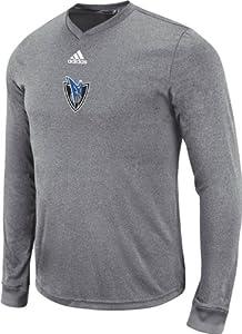 Dallas Mavericks Adidas NBA Pre-Game Long Sleeve T-Shirt (Charcoal Gray) by adidas
