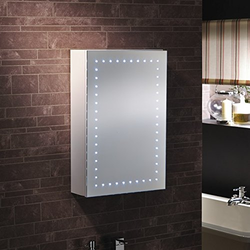 """Novara"" - LED Bathroom LED Mirror Cabinet Illuminated Mirror - H60cm x W45cm - FREE NEXT DAY DELIVERY"