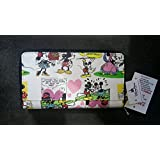 Disney Mickey Mouse Cartoon Clutch Wallet White NEW