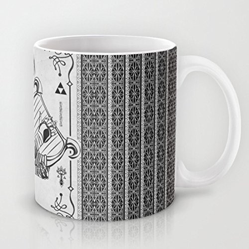 Legend of Zelda Shiek Princess Zelda Geek Line Art-Tazza da tè o caffè in ceramica, materiale ad regalo-Tazza da caffè