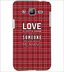 PrintDhaba Quote D-3499 Back Case Cover for SAMSUNG GALAXY J2 (Multi-Coloured)
