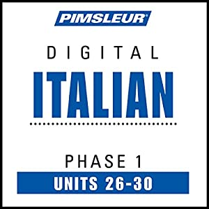 Italian Phase 1, Unit 26-30 Audiobook