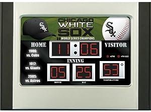 Chicago White Sox Scoreboard Desk & Alarm Clock by Hall of Fame Memorabilia