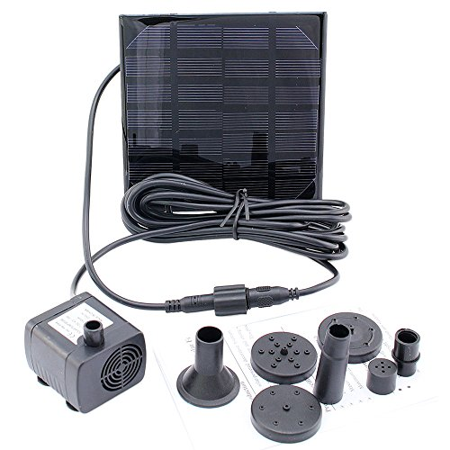 Solar Power Panel Kit Water Pump 6v 1 2w With Filter Set