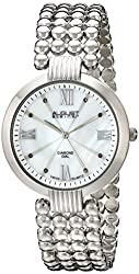 August Steiner Women's AS8065SS Diamond-Accented Watch
