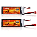 2 Packs Floureon 11.1V 5500mAh 35C Li-Polymer Lipo Battery Packs RC Battery with... by Floureon