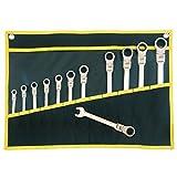 Proteco-Werkzeug® 12-tlg. Ringmaul-Ratschenschlüssel Satz SW 6 - 19 feinverzahnt 72