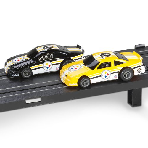 Nfl Pittsburgh Steelers Electric Slot Car Set By Ashton Drake