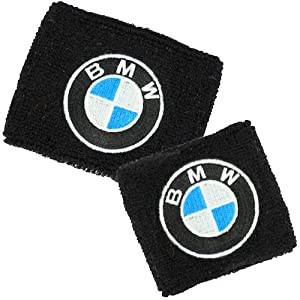 BMW Brake/Clutch Reservoir Sock Cover Set Available in Black and White, Fits BMW Motorrad, HP2, Megamoto Sport, S1000RR, F800R, F800, K1300, R1200, RT, GT, GS