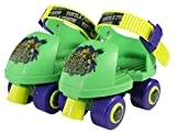 Teenage Mutant Ninja Turtles Kids Rollerskate, Junior Size 6-12 with Knee Pads