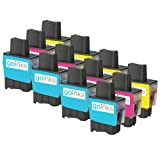 4 Compatible Brother LC900 C/M/Y Colour Sets of Printer Ink Cartridges - Cyan / Magenta / Yellow for Brother DCP-110C DCP-115C DCP-117C DCP-120C DCP-310 DCP-310CN DCP-315C DCP-315CN DCP-340CN DCP-340CW FAX-310 FAX-1835 FAX-1835C FAX-1840C FAX-1940 FAX-19