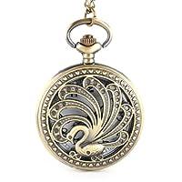 YESURPRISE Steampunk Retro Antique Bronze Goose Pocket Watch Quartz Clock Necklace Pendant #3