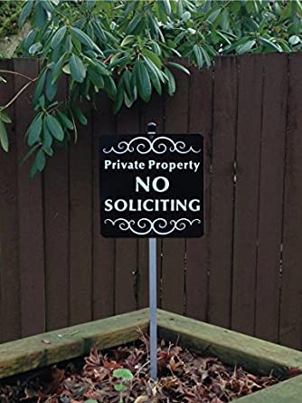 Amazon Com Private Property No Soliciting Yard Sign Pre