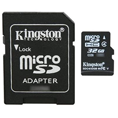 Professional Kingston MicroSDHC 32GB (32 Gigabyte) Card for Microsoft Kin I with custom formatting and Standard SD Adapter. (SDHC Class 4 Certified)