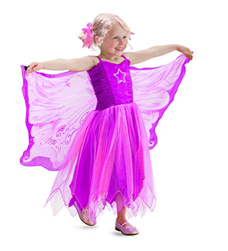 Fanciful Fabric Fairy Dress with Wings, in Small