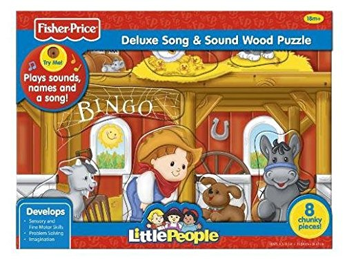Fisher Price Little People Bingo Song & Sound Wood Puzzle 8 pcs (Fisher Price Little People Puzzle compare prices)