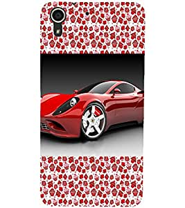 PrintDhaba Car D-2514 Back Case Cover for HTC DESIRE 728 (Multi-Coloured)