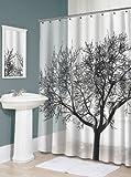 Splash Home Tree EVA Shower Curtain, 70 by 72-Inch, Black